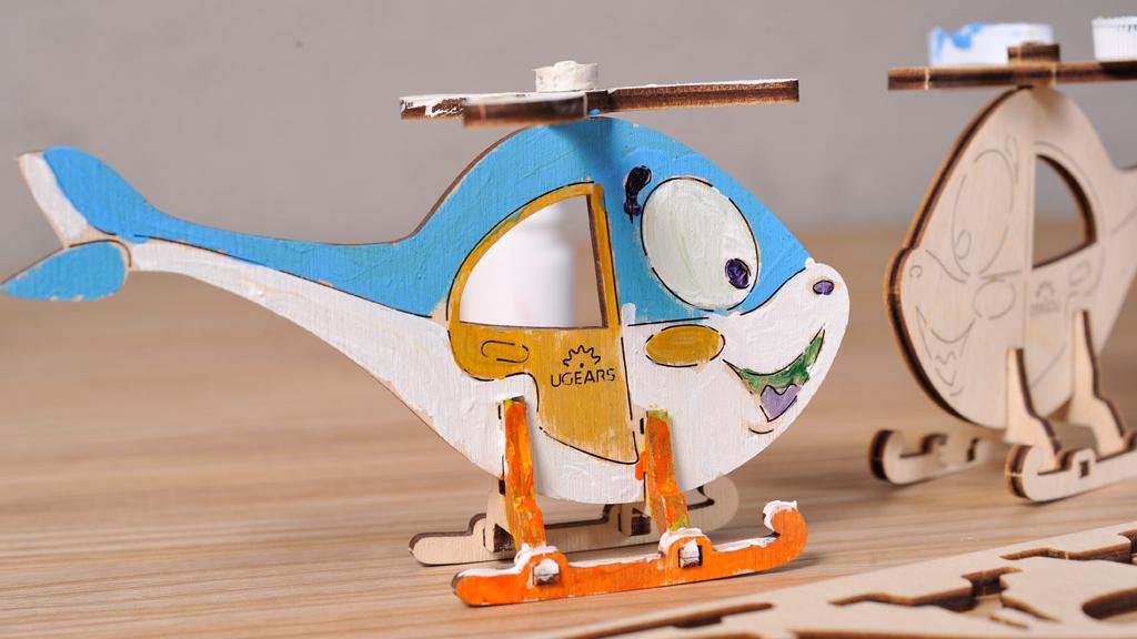 3D модель-розмальовка «Гелікоптер»