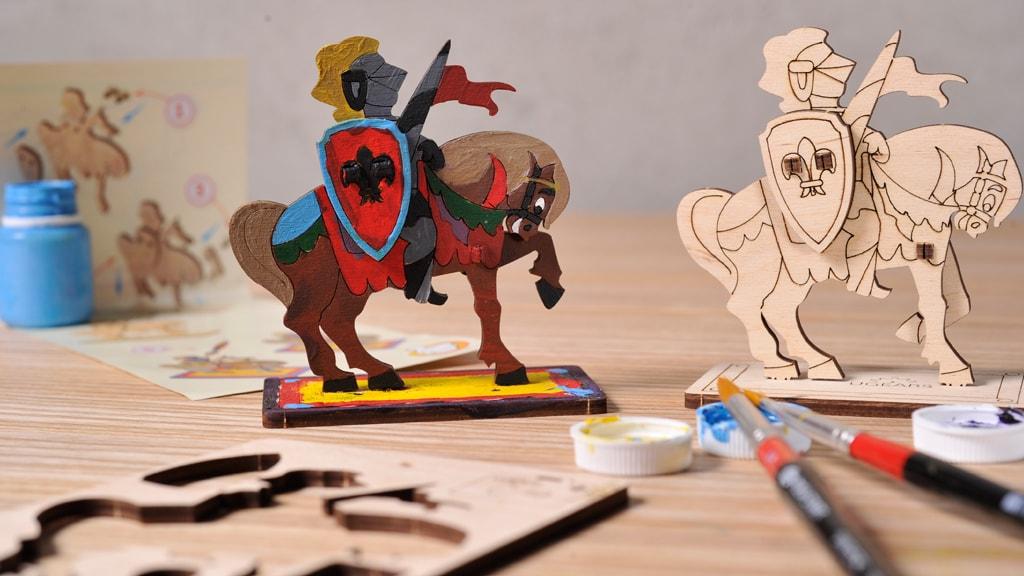 3D модель-розмальовка «Лицар»