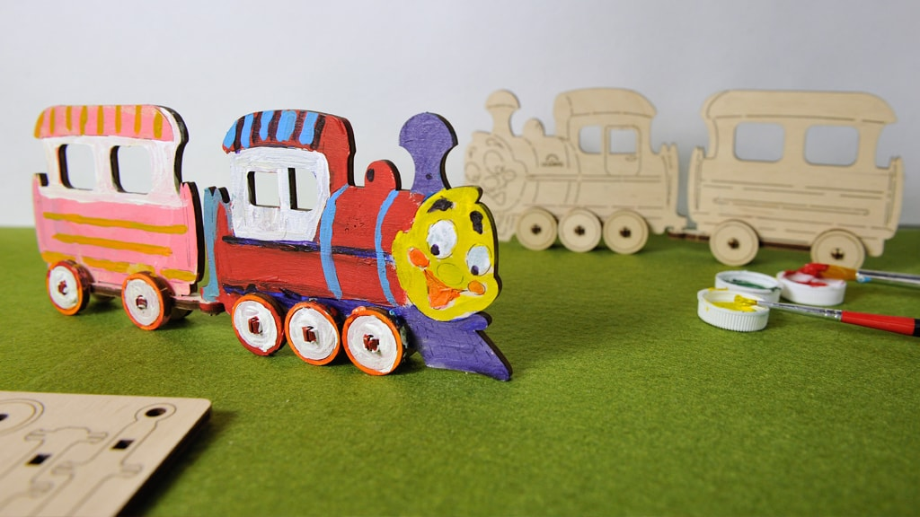 3D модель-розмальовка «Локомотив»