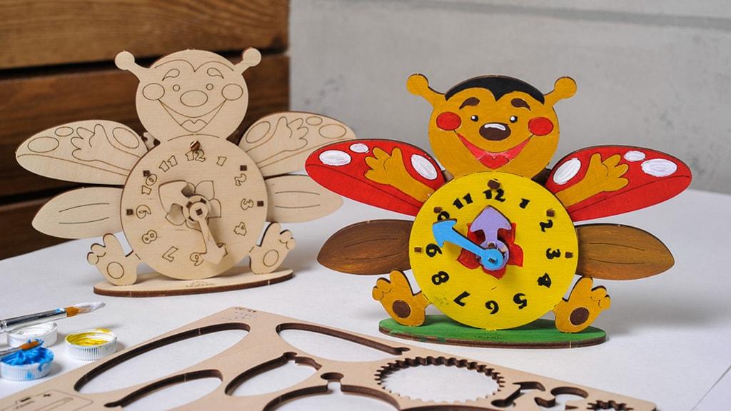 3D модель-розмальовка «Годинник»