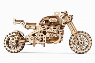 Механічна модель «Мотоцикл Scrambler UGR-10 з коляскою»