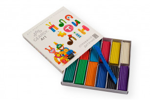 Пластилін дитячий «GEARSY ART», набір із 12 кольорів