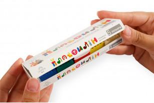 Пластилін дитячий «Gearsy Art», набір із 5 кольорів
