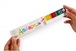 Фарби акварельні медові «Gearsy Art», набір із 6 кольорів