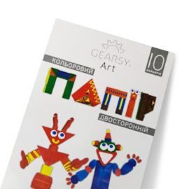 Бумага цветная двусторонняя 10 листов